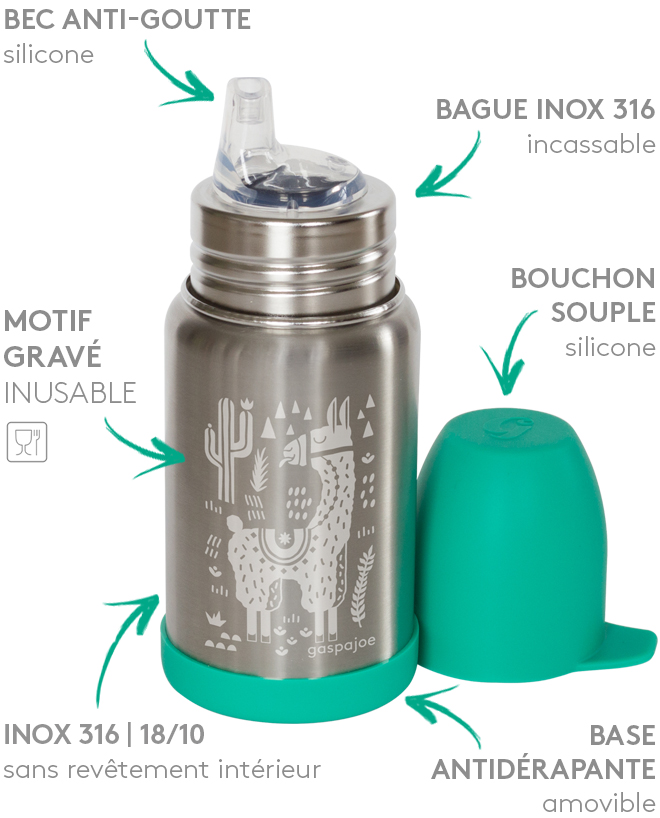 Bouteille 350ml Sippy Lama